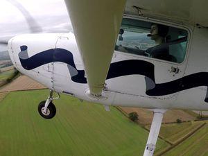Kieran in the Cessna 152 G-JIMH