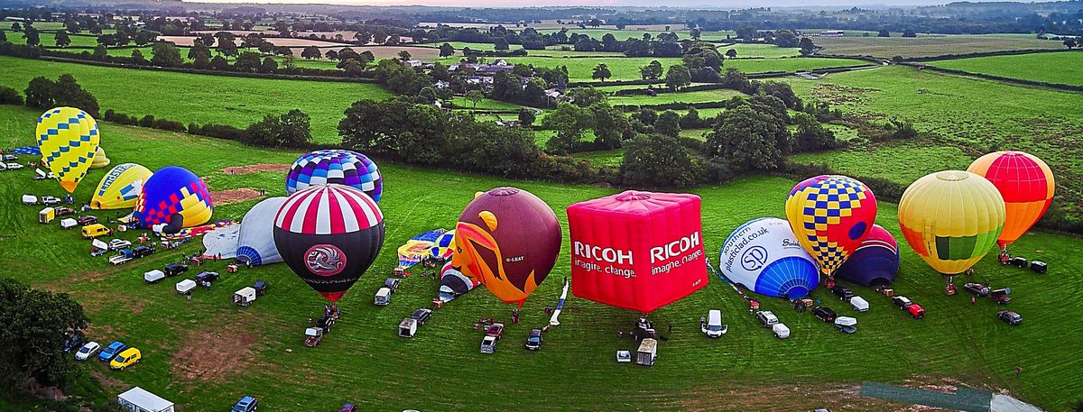 The different colours and shapes of Oswestry Balloon Festival make for a wonderful collage