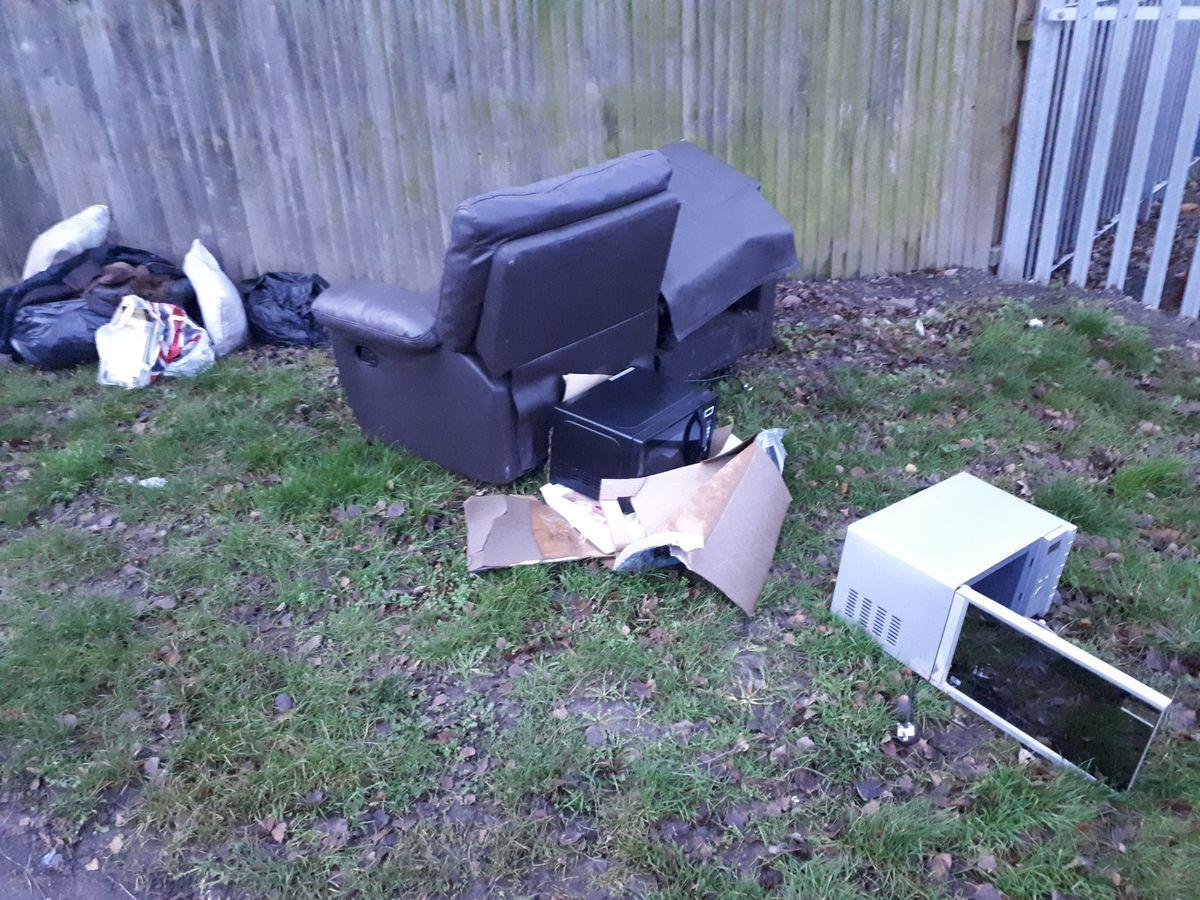 Rubbish dumped in Donnington