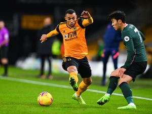 Marcal of Wolverhampton Wanderers and Son Heung-min of Tottenham Hotspur.