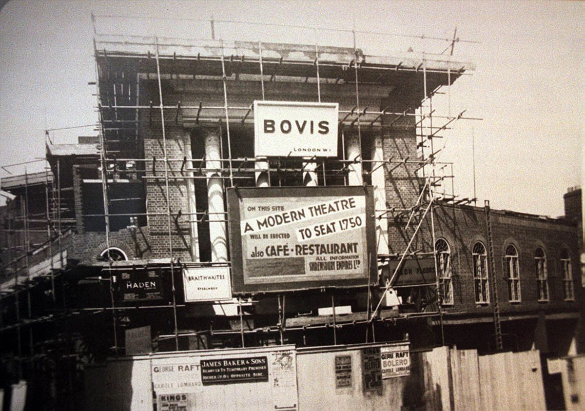 The Granada at Shrewsbury could be partially demolished under proposals in a recently unveiled masterplan. Here it is under construction in 1934 – there are posters stuck on the boards advertising the movie Bolero, starring George Raft, which dated from that year. The new theatre opened on November 14, 1934.