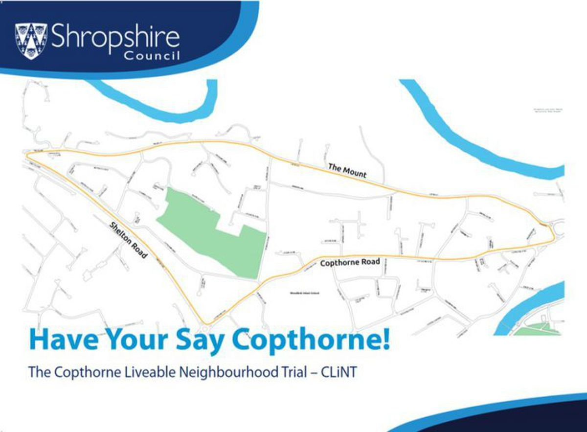 The area of Copthorne that would be covered by the trial