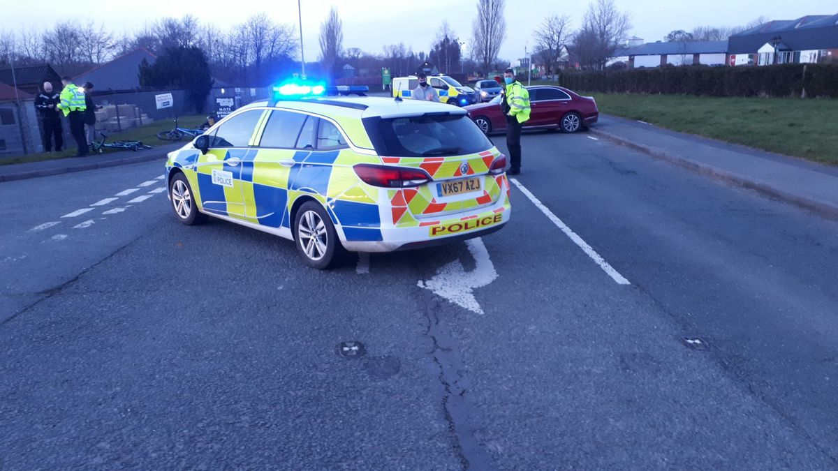 The scene of the crash. Photo: Oswestry Safer Neighbourhood Team