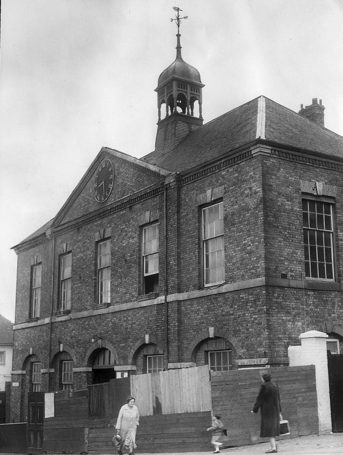 Broseley Town Hall in the early 1960s.