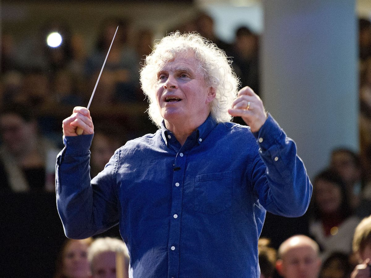 Sir Simon – rattled by the Proms