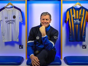 Steve Cotterill is unveiled as the new manager of Shrewsbury Town yesterday – he feels he has waited for the right job to come along