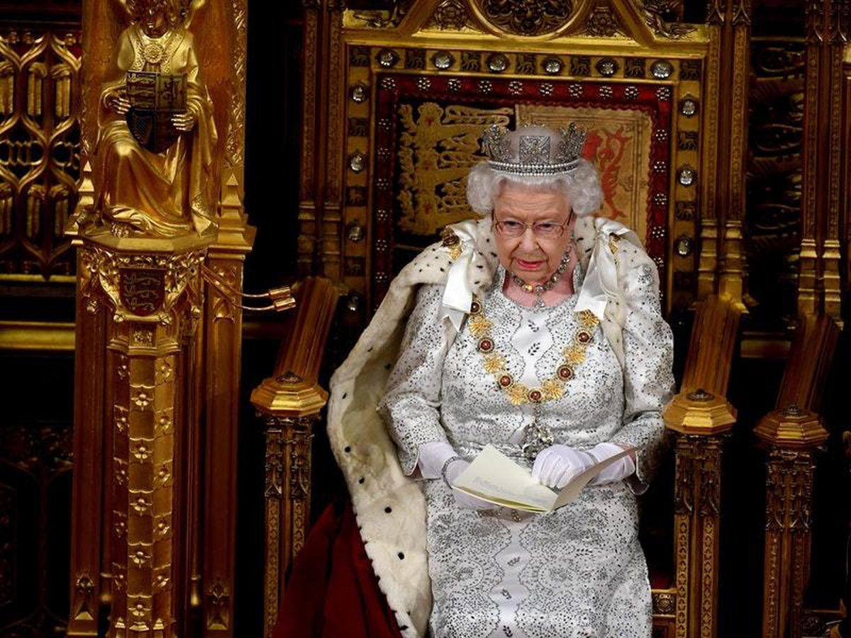 The Queen during the State Opening of Parliament