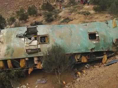 Dozens killed after bus crashes off cliff in Peru