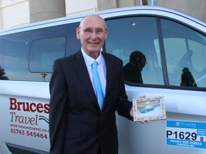 Taxi boss Robbie Bruce has been supporting Concord College students for nearly 35 years