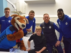 AFC Telford players deliver Christmas presents during hospital visit