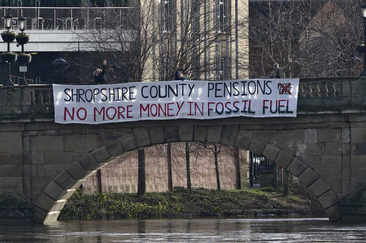 Protestors staged a socially-distanced banner drop in March to highlight their campaign. Picture: Chris Davenport.