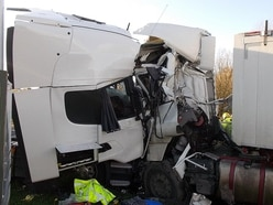 Photos reveal aftermath of horror A49 lorry crash