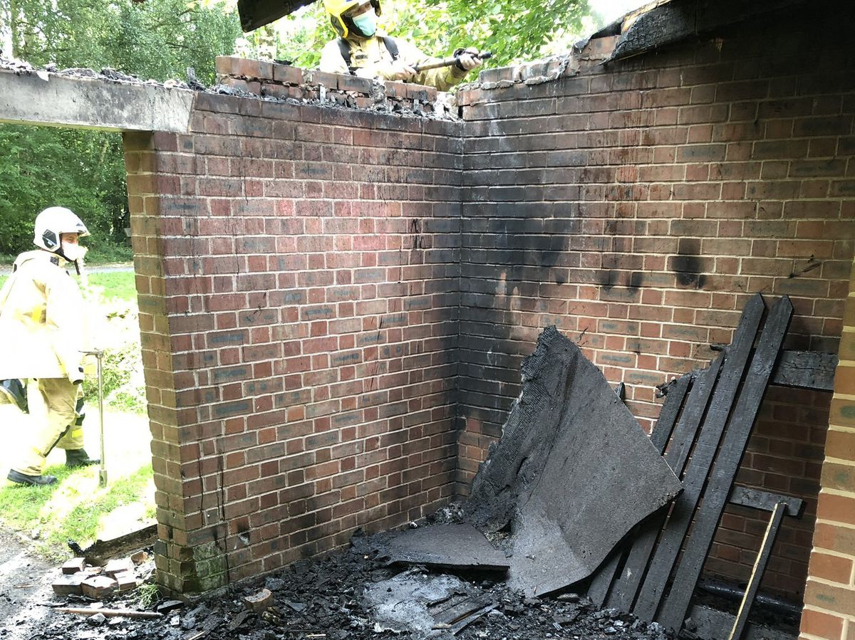 Some of the damage caused by the arson attack. Photo: Craig Jackson