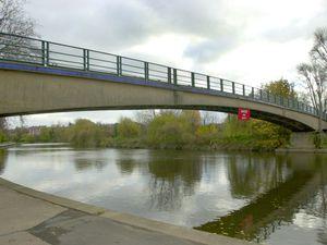 The incident happened near the Castle Walk footbridge
