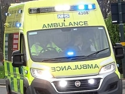 Pedestrian hit by car near Oswestry