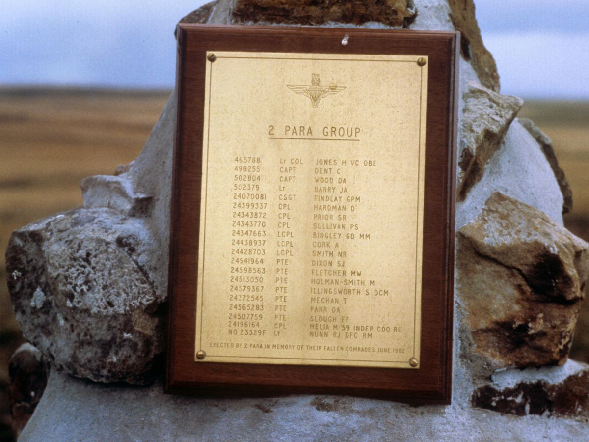 Falklands War – Roll of Honour – 2 Para Memorial – Goose Green