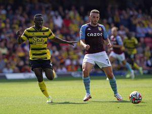 Aston Villa's John McGinn. Photo: Jonathan Brady/PA Wire.