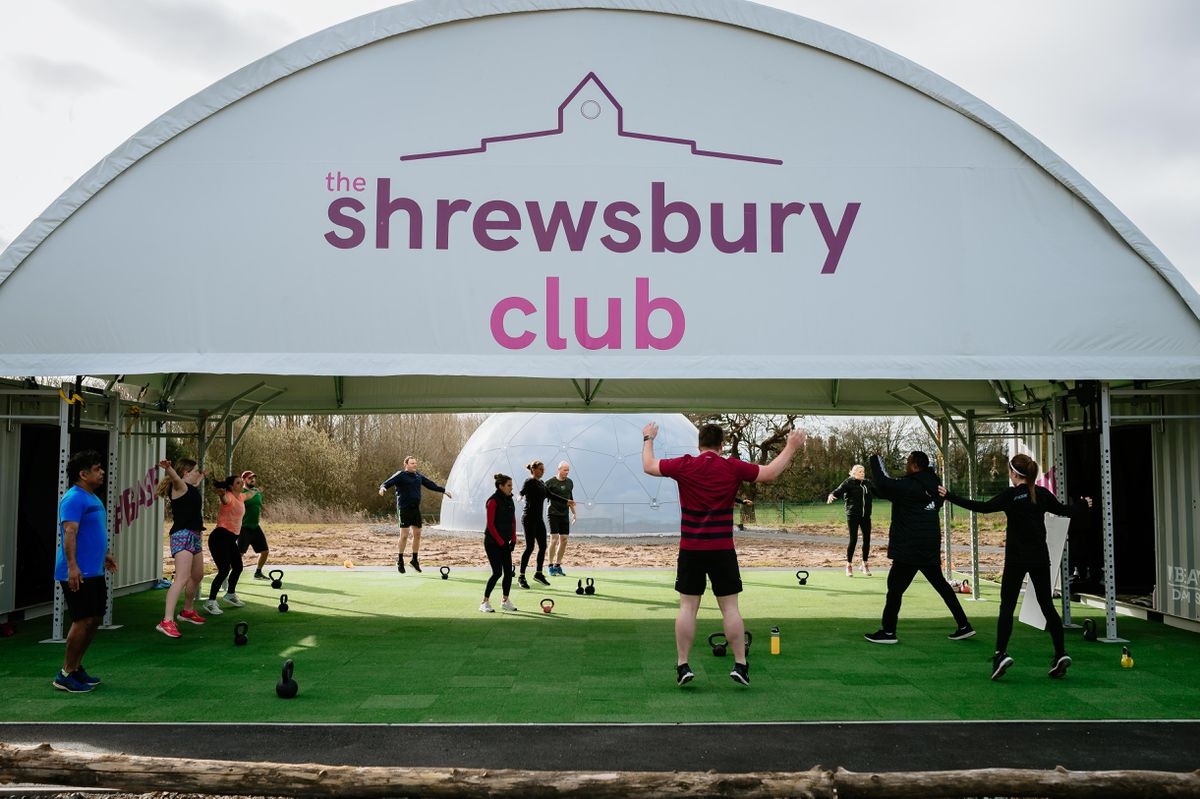 Outdoor exercise has returned to The Shrewsbury Club, including tennis and bootcamps at their new outdoor facility
