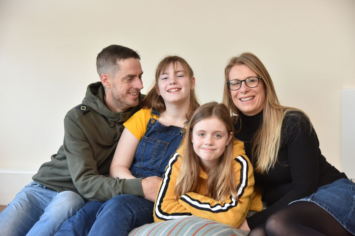 Karl and Vicki Evans with daughters Poppy and Lyla
