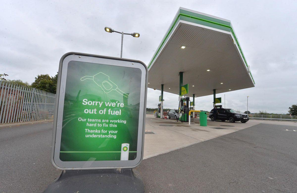 The BP garage in Newport had no fuel on Saturday