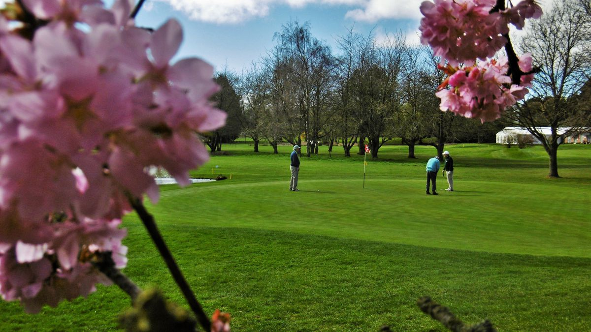 Golfers on Shrewsbury Golf Course at Condover. Photo: Peter Steggles..