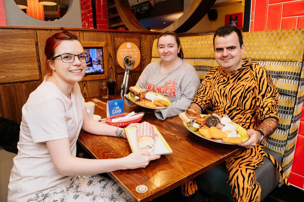 Jess Neail, Holly Braithwaite and Cameron McIntyre