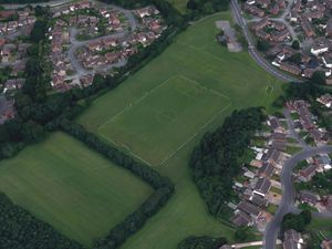 The boy was attacked at Leegomery playing field, pictured. Photo: Google