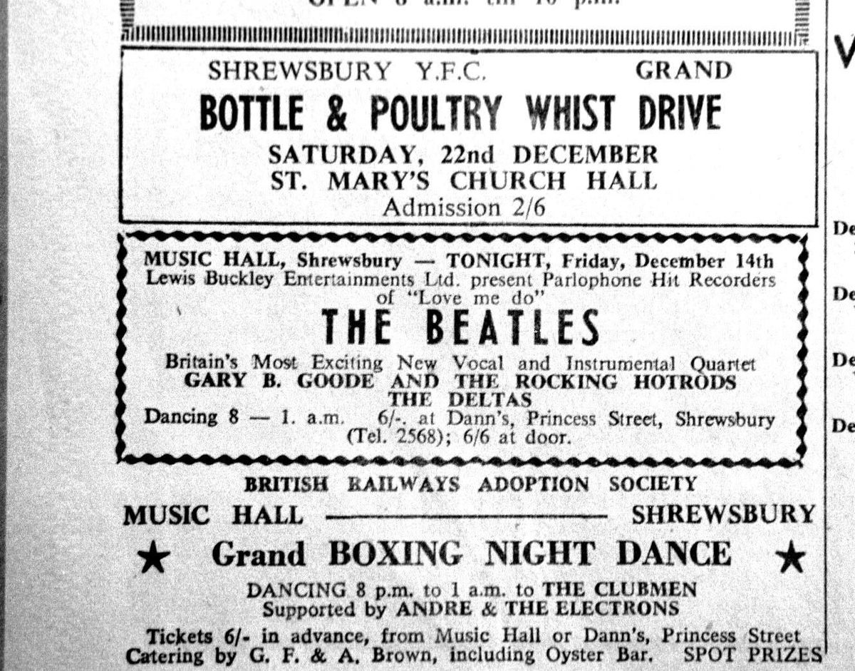 The Beatles topped the bill