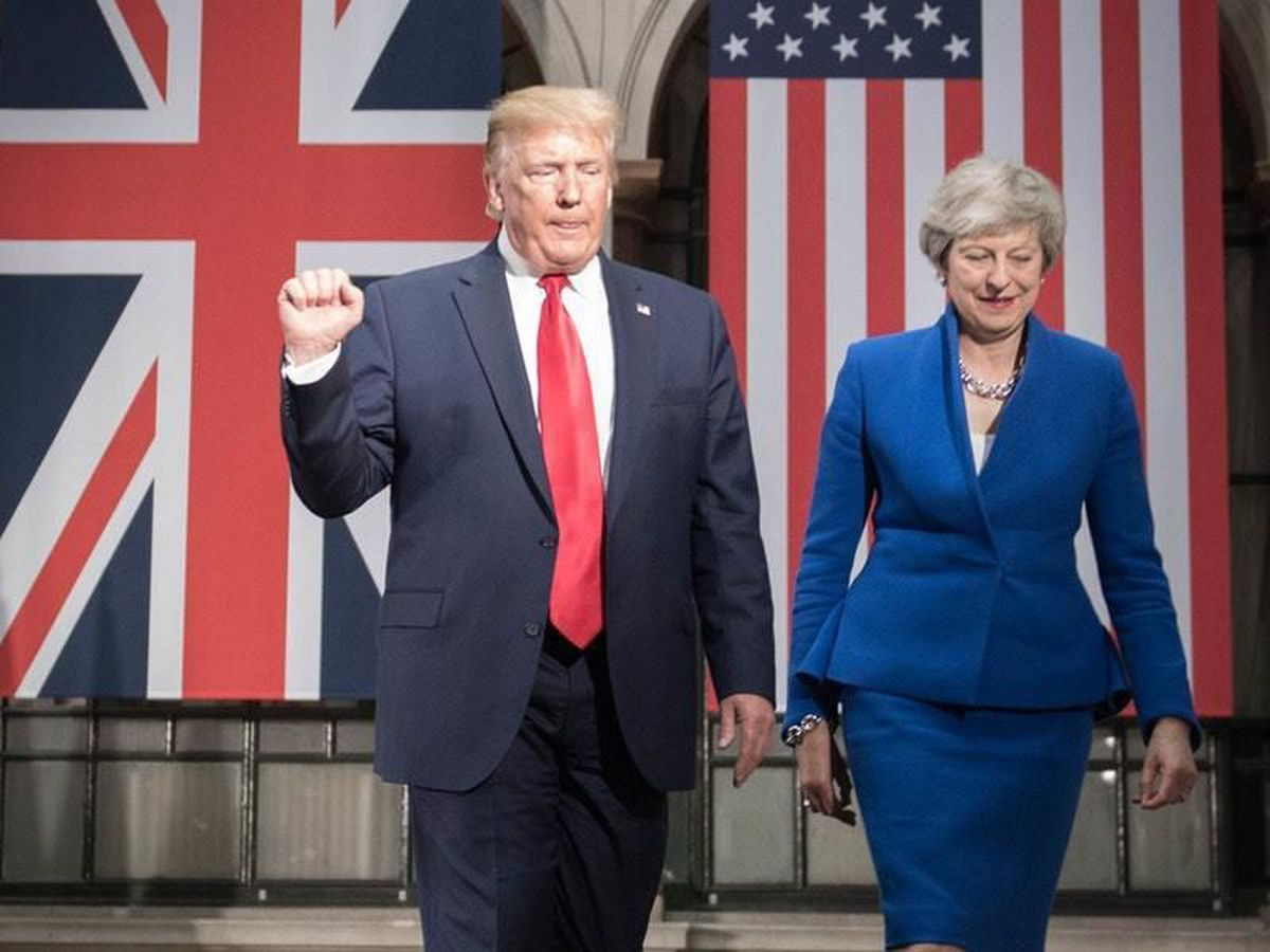 Theresa with Donald Trump