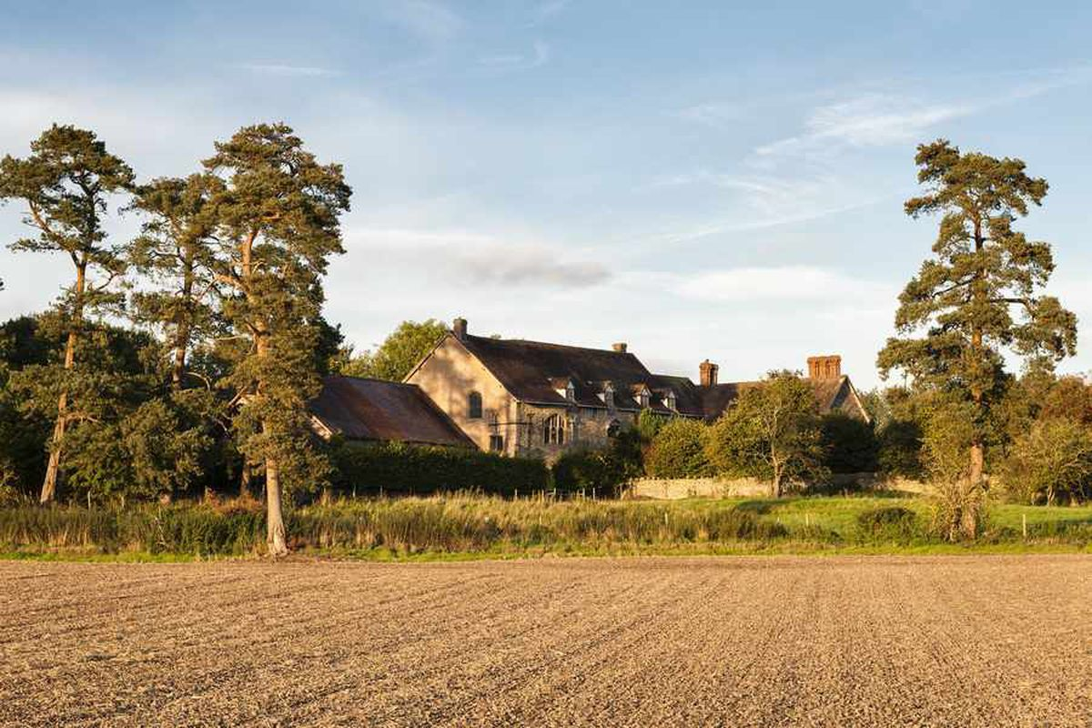 Wigmore Abbey is surrounded by beautiful countryside