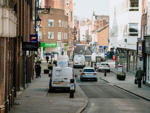A deserted Shoplatch in Shrewsbury town centre