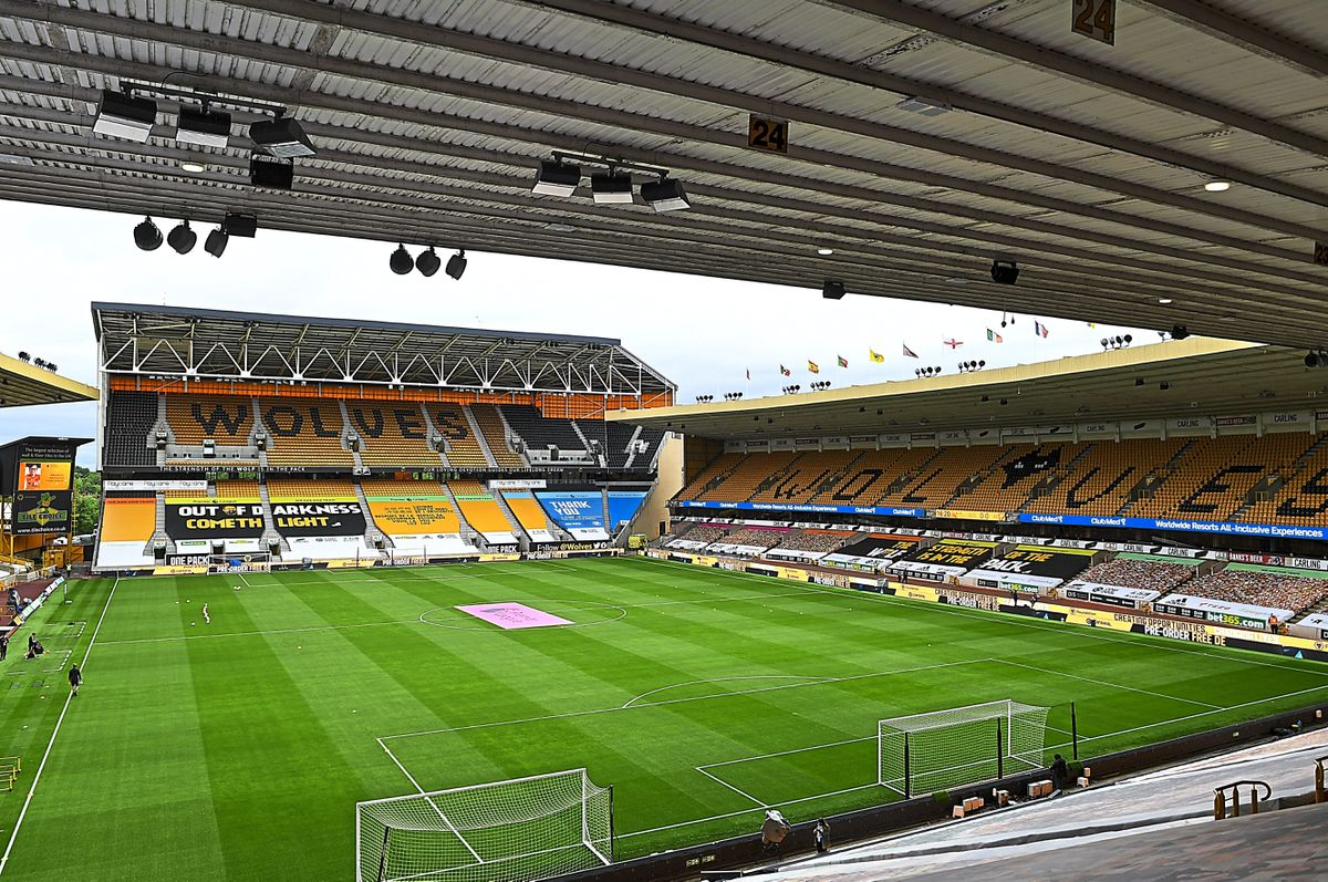 A general internal view of Molineux Stadium, home stadium of Wolverhampton Wanderers.