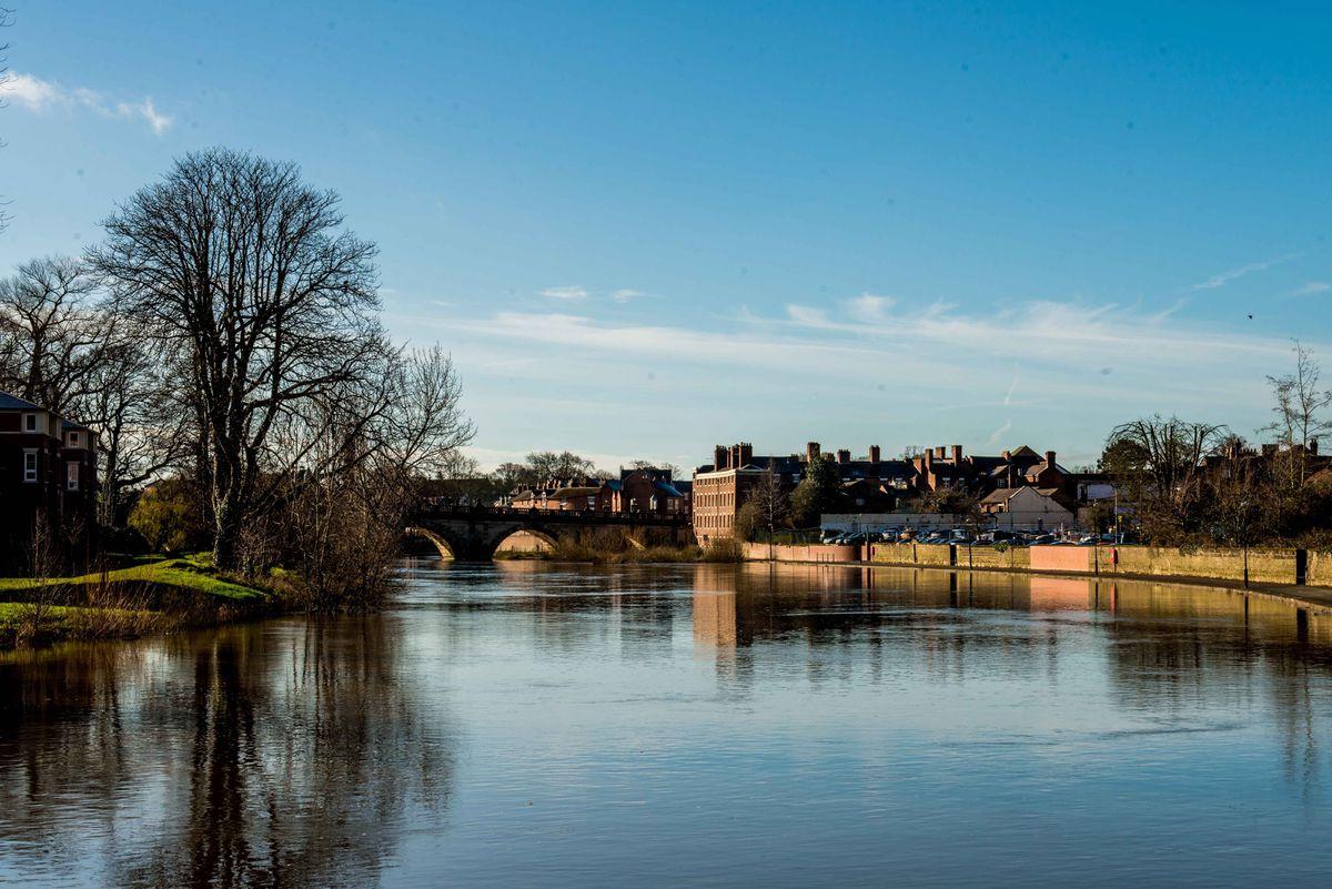The River Severn in Shrewsbury
