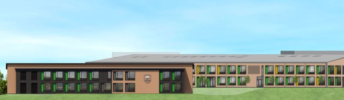An artist's impression of the proposed 14-classroom expansion at The Telford Langley School.