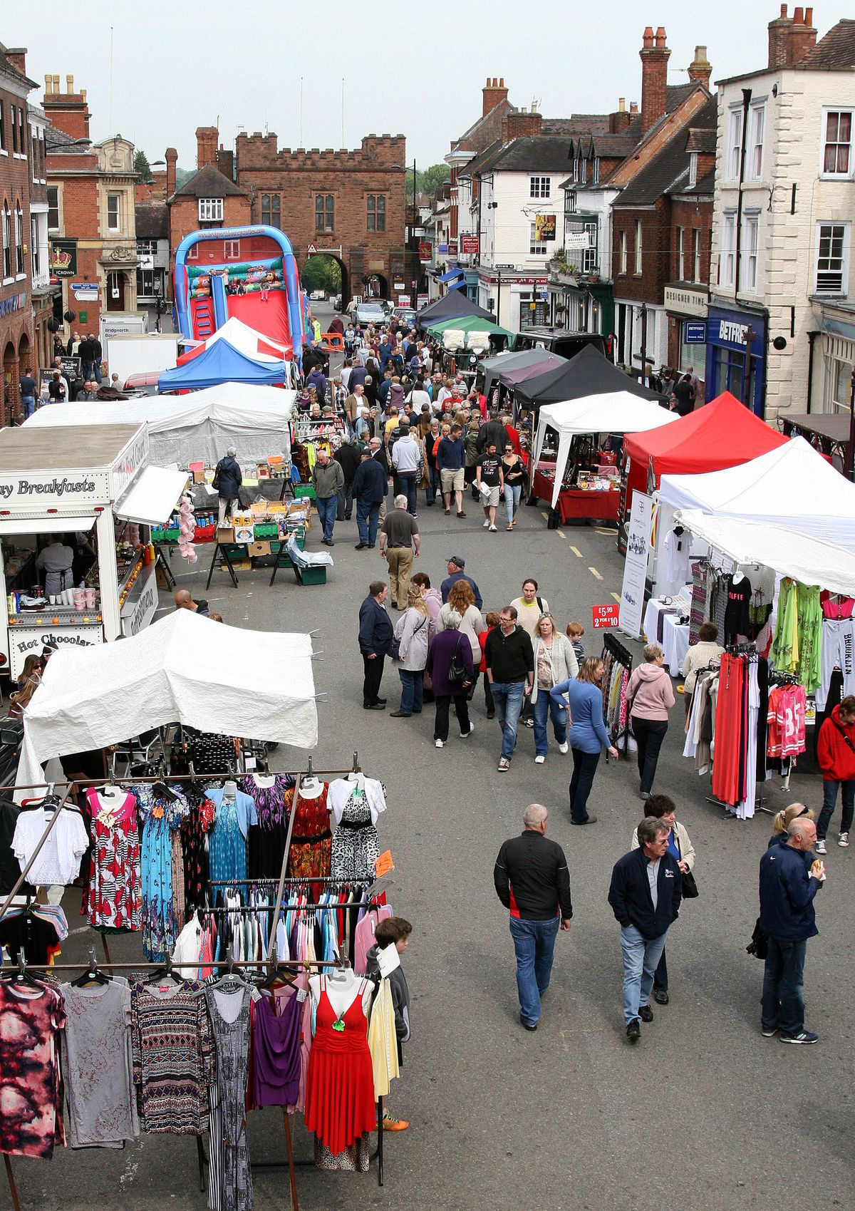 A file photo showing Bridgnorth High Street closed for the market