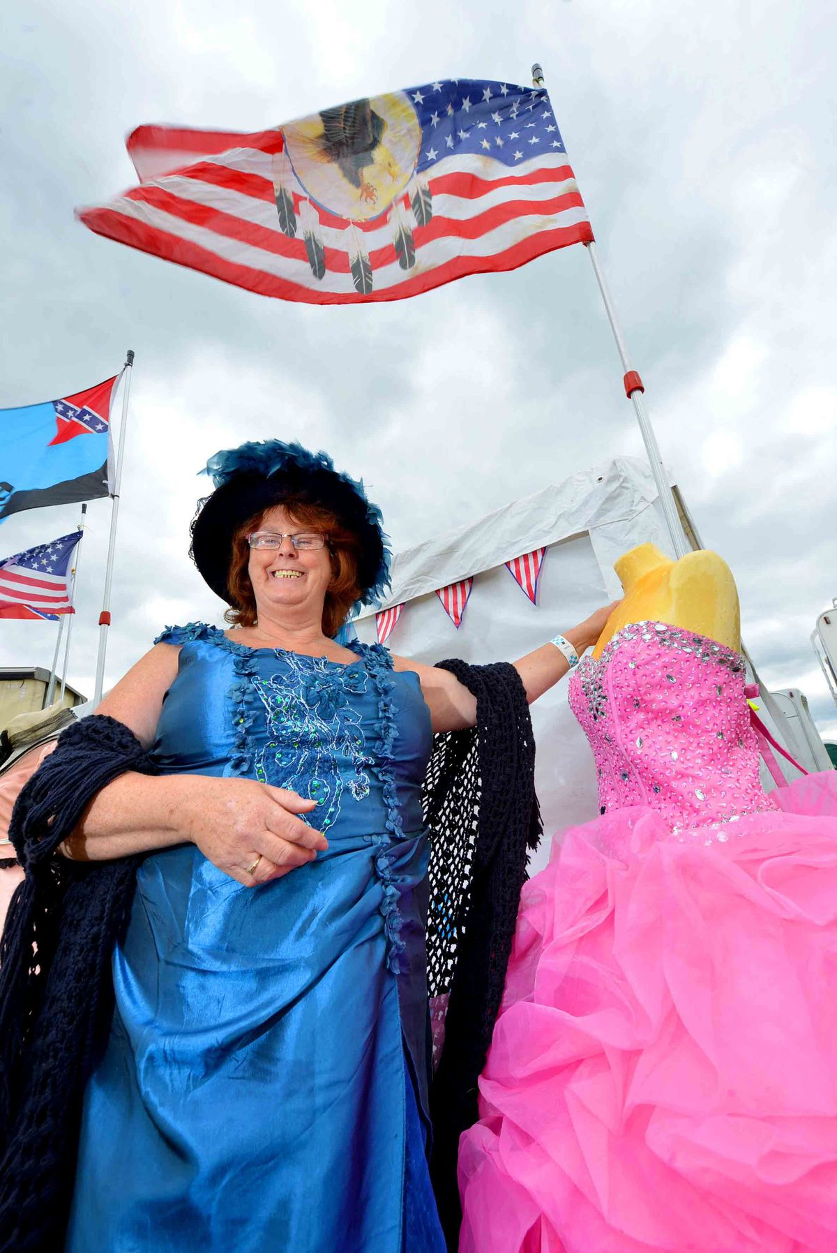 Lily Parkes from Henly on Thames, with her clothing and alterations stall