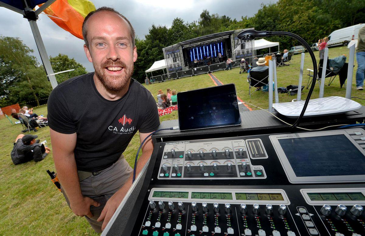 Sound engineer Jake Putterill-Evans
