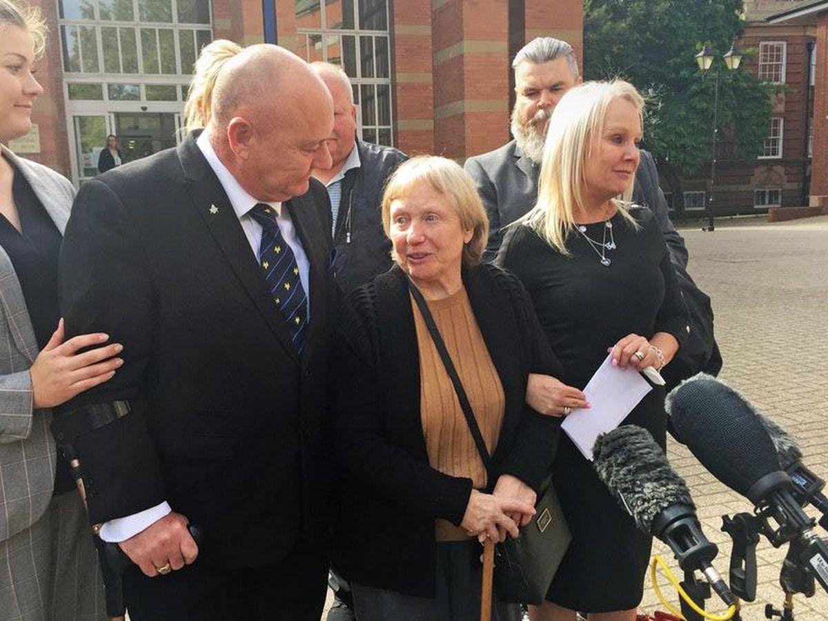 Mavis Eccleston outside Stafford Crown Court