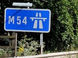 M54 delays after westbound crash