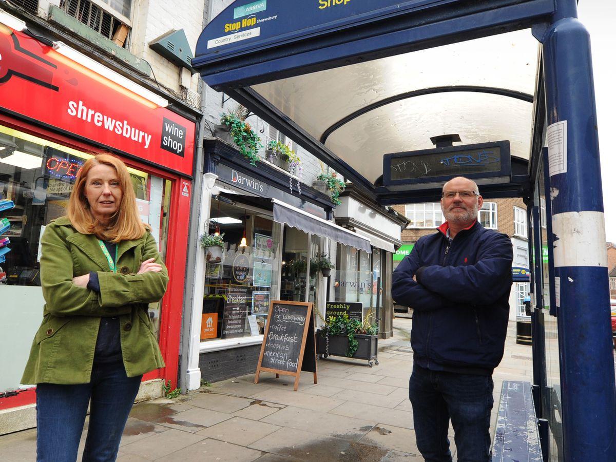 Gwen Burgess and Ashley Davies in Shoplatch