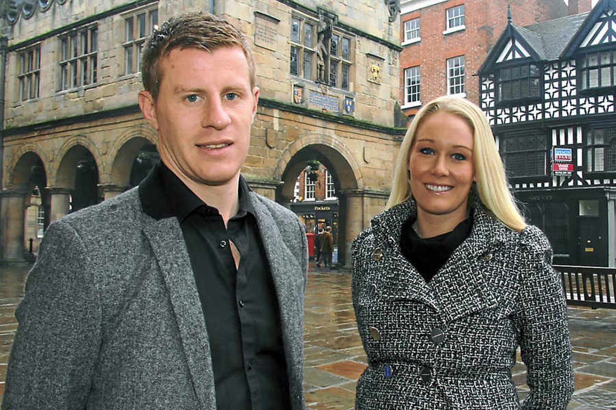 Shrewsbury Town star Paul Parry and wife kicking off a new business