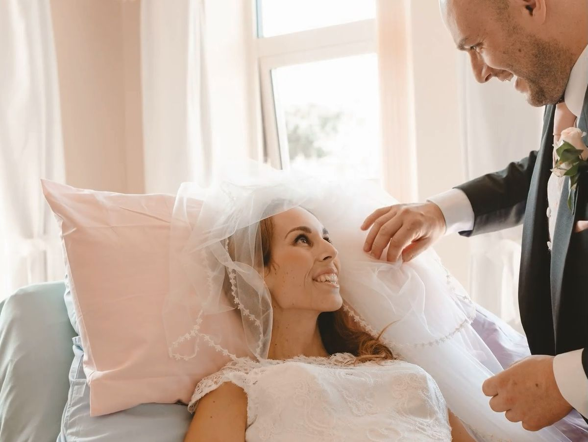 'The hardest day, but beautiful too': Severn Hospice team help couple to celebrate wedding