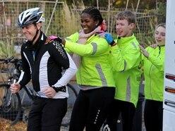 Big Shropshire welcome for BBC rickshaw cyclists