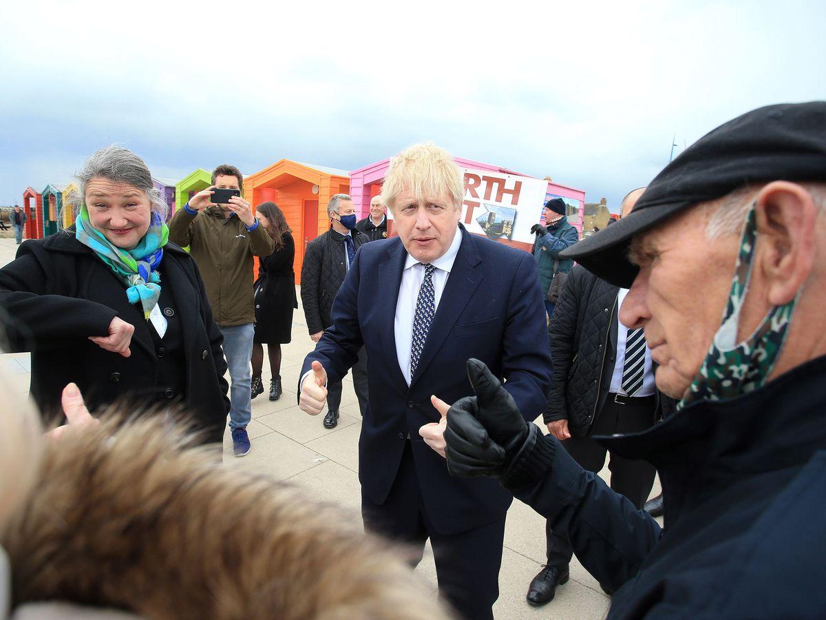 Prime Minister Boris Johnson visits Hartlepool