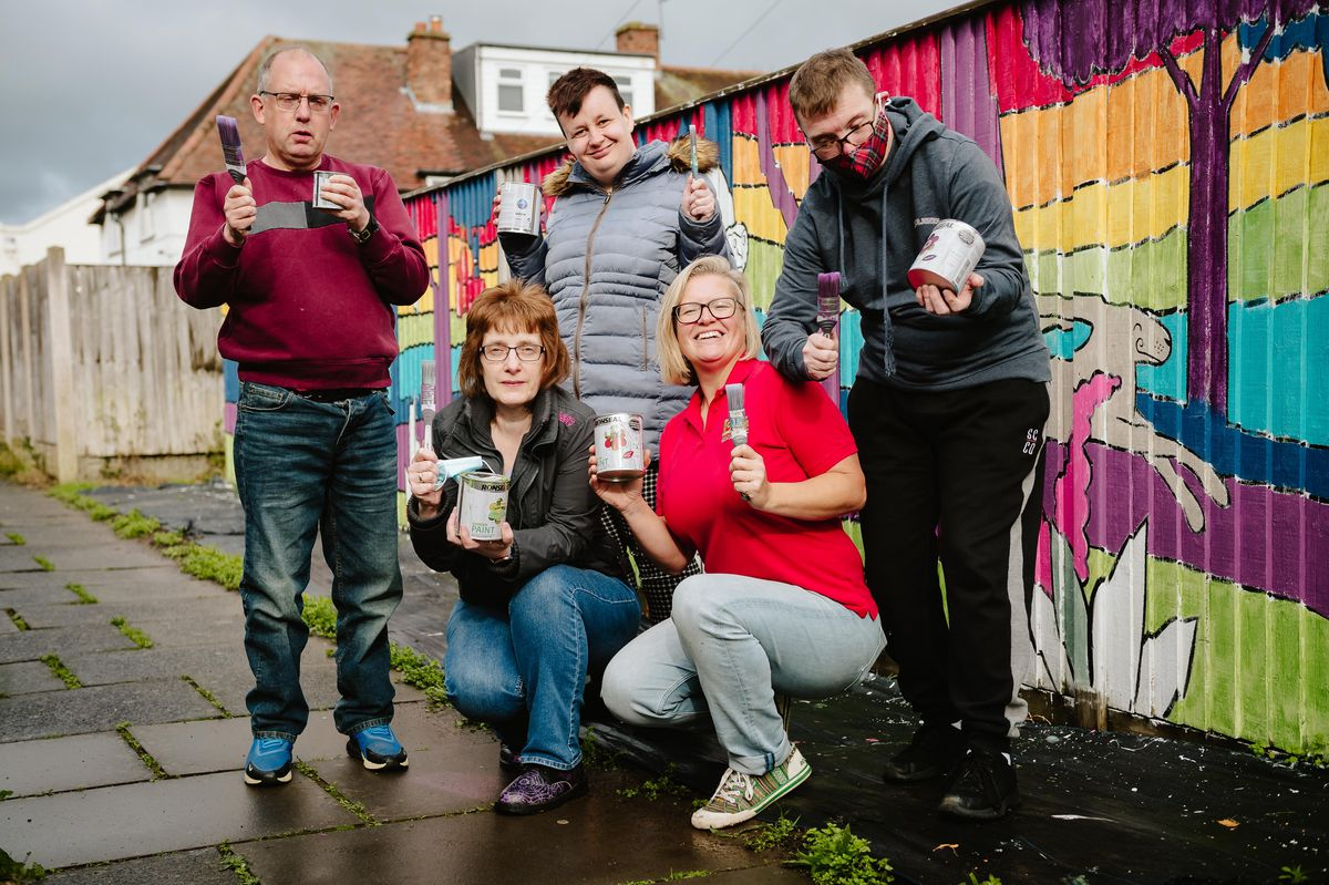 Pictured are from left,  Chris Suddell, Anja Evans ,Lisa Meachem, Clare Bear and Craig McSorley.