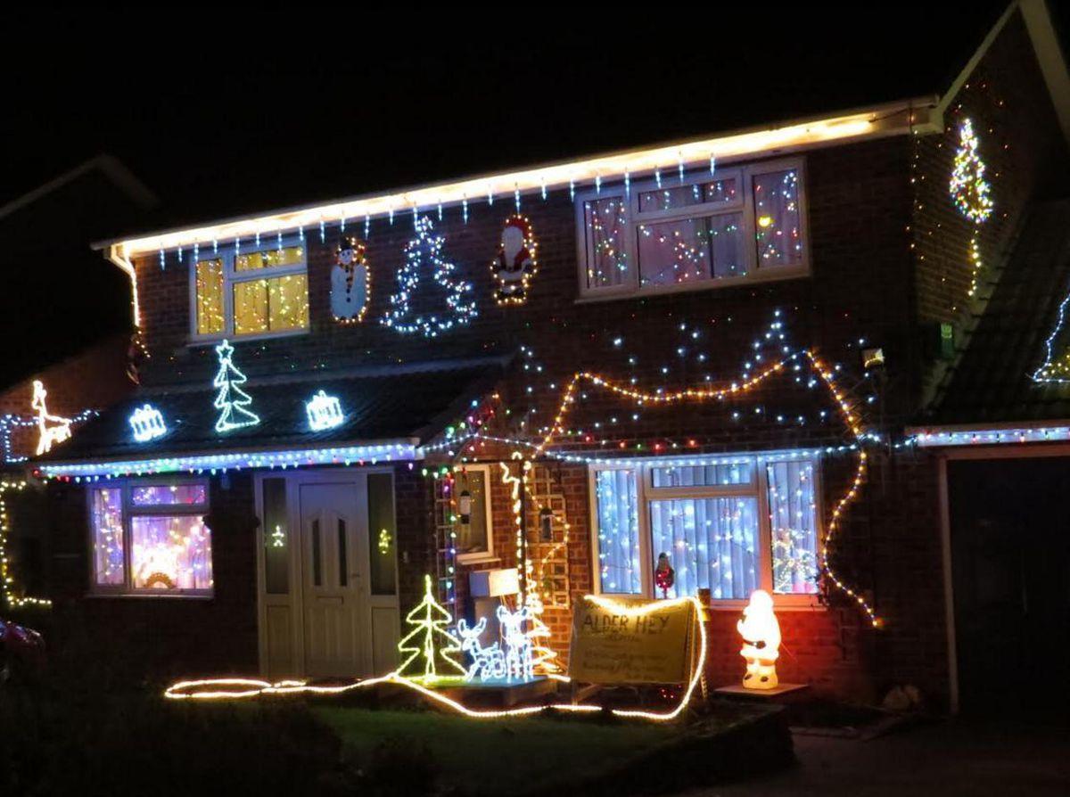 Fireman John's Christmas lights in 2016