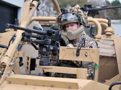 Jackal armoured vehicle arrives in Shropshire