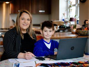 Freddie Jones 7, from Ellesmere and his mum, Alison
