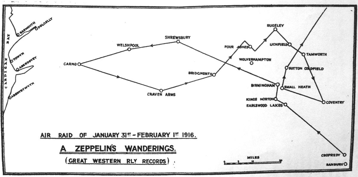 The Great Western Railway produced this map tracking the route of L14.