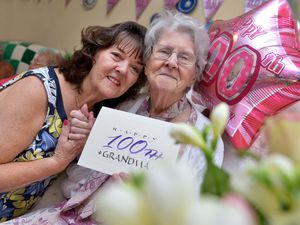 Beatrice Walters, from Wellington, pictured celebrating her 100th birthday with her eldest daughter Jean Whitmore